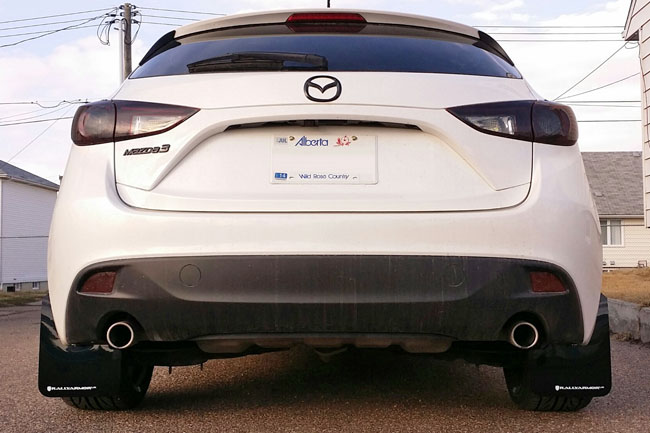 2014+ Mazda3 Mud flap White logo, Rally Armor