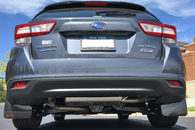 2017-19 Impreza 4D/5D Mud flap Red logo, Rally Armor