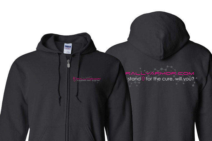 Breast Cancer Awareness Rally Armor Zip-Up Hoodie (3XL)