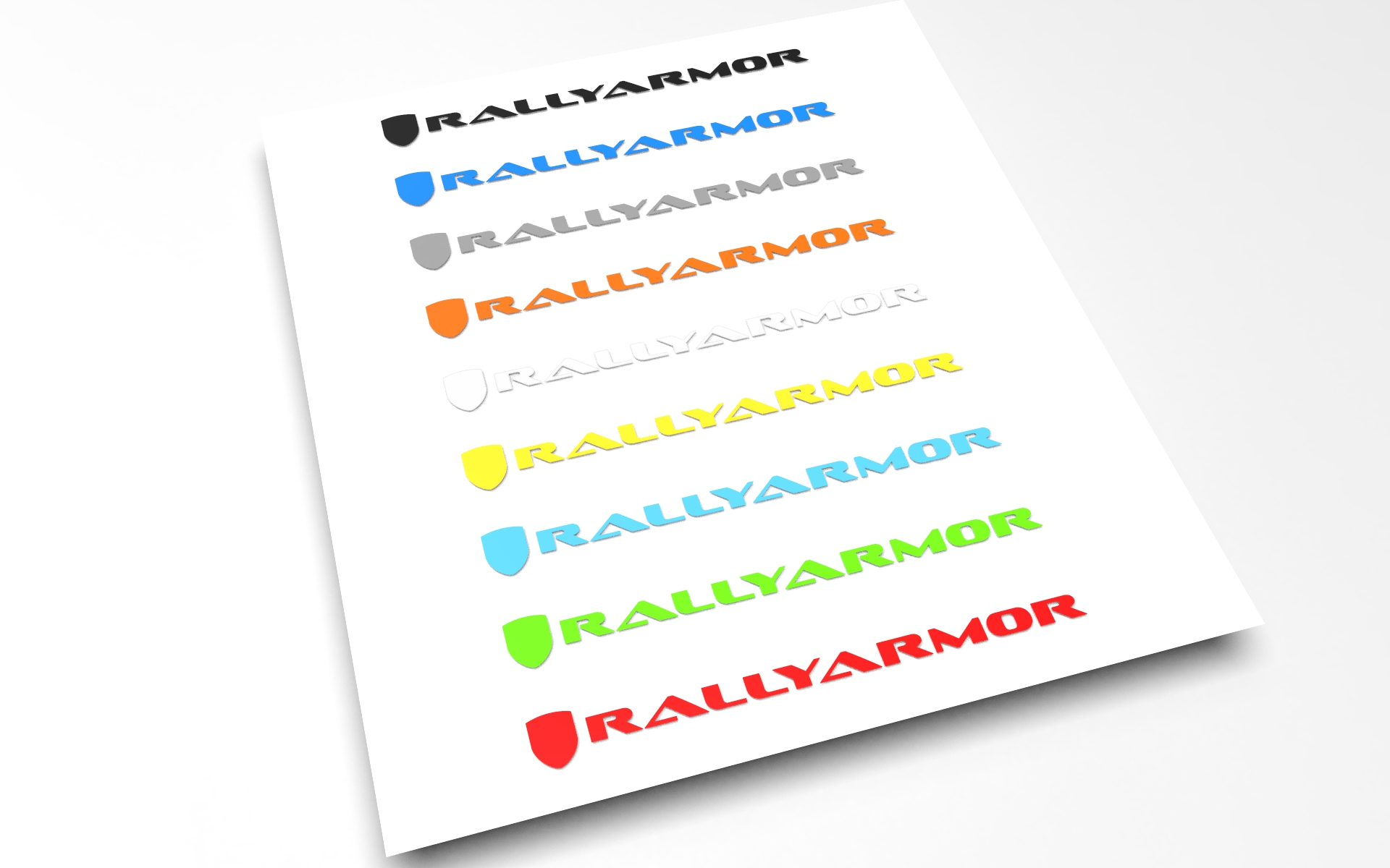 Rallyarmor RED Decal