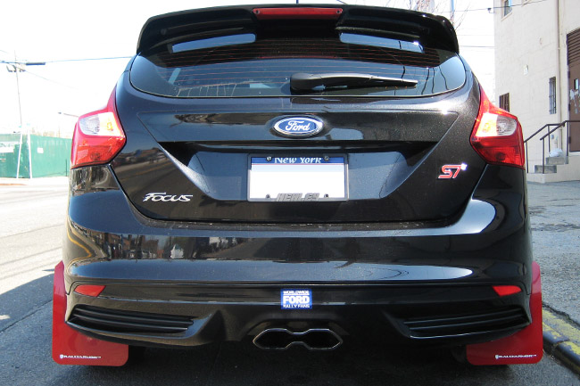 2012 ford focus st rs mud flaps light blue logo rally armor