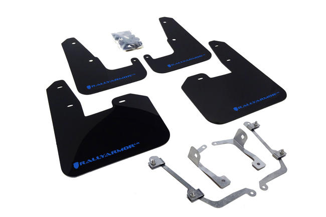 2011-14 Subaru WRX Hatch Black UR Mud Flap Blue Logo