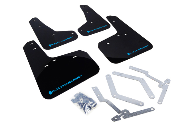 2012-18 Ford Focus, ST, RS Mud Flaps Light Blue Logo