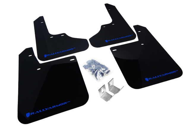 93-01 Impreza UR Rally Mud flap Blue Logo