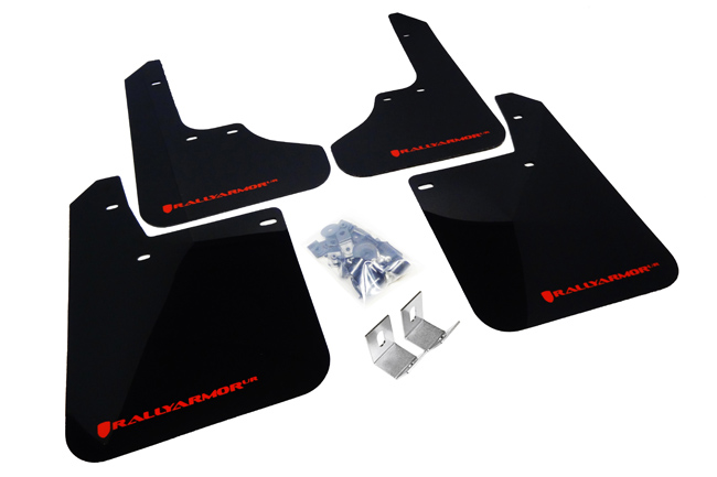 93-01 Impreza UR Rally Mud flap Red Logo