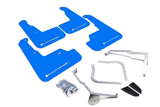 2015-18 Subaru WRX & STI Sedan Blue Mud Flap White Logo