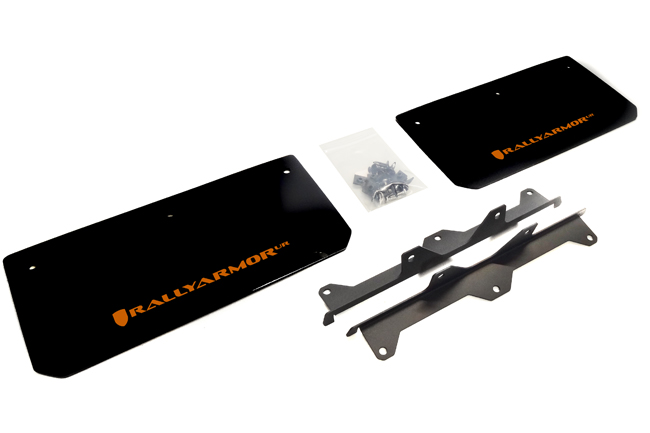 2015-16 Polaris Slingshot Front Mud Flaps Orange Logo