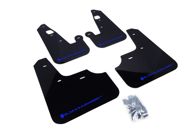 07-17 Lancer UR Mud flap Blue logo