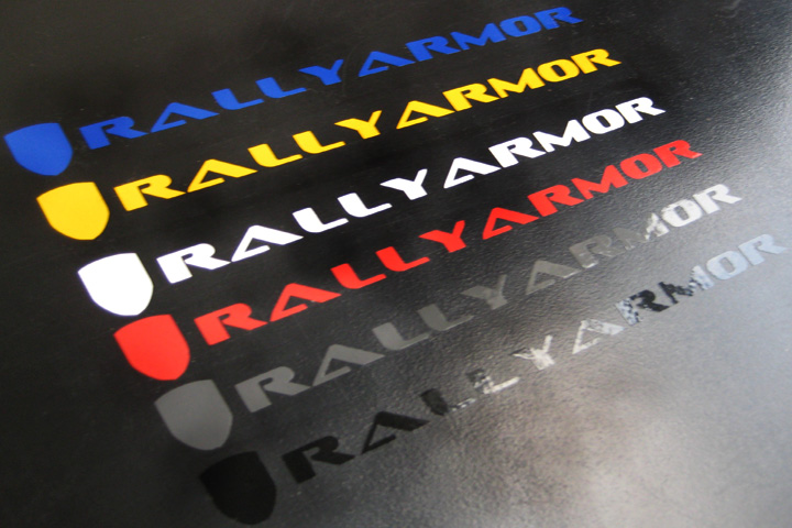 Rallyarmor BLUE Decal