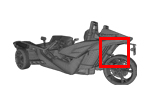 Polaris Slingshot Rear Swingarm Guard