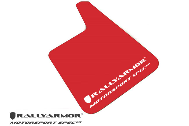 Universal Red MSpec Mud flap White logo