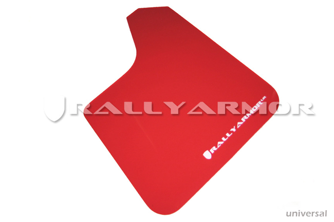 Universal UR RED Mud flap White logo